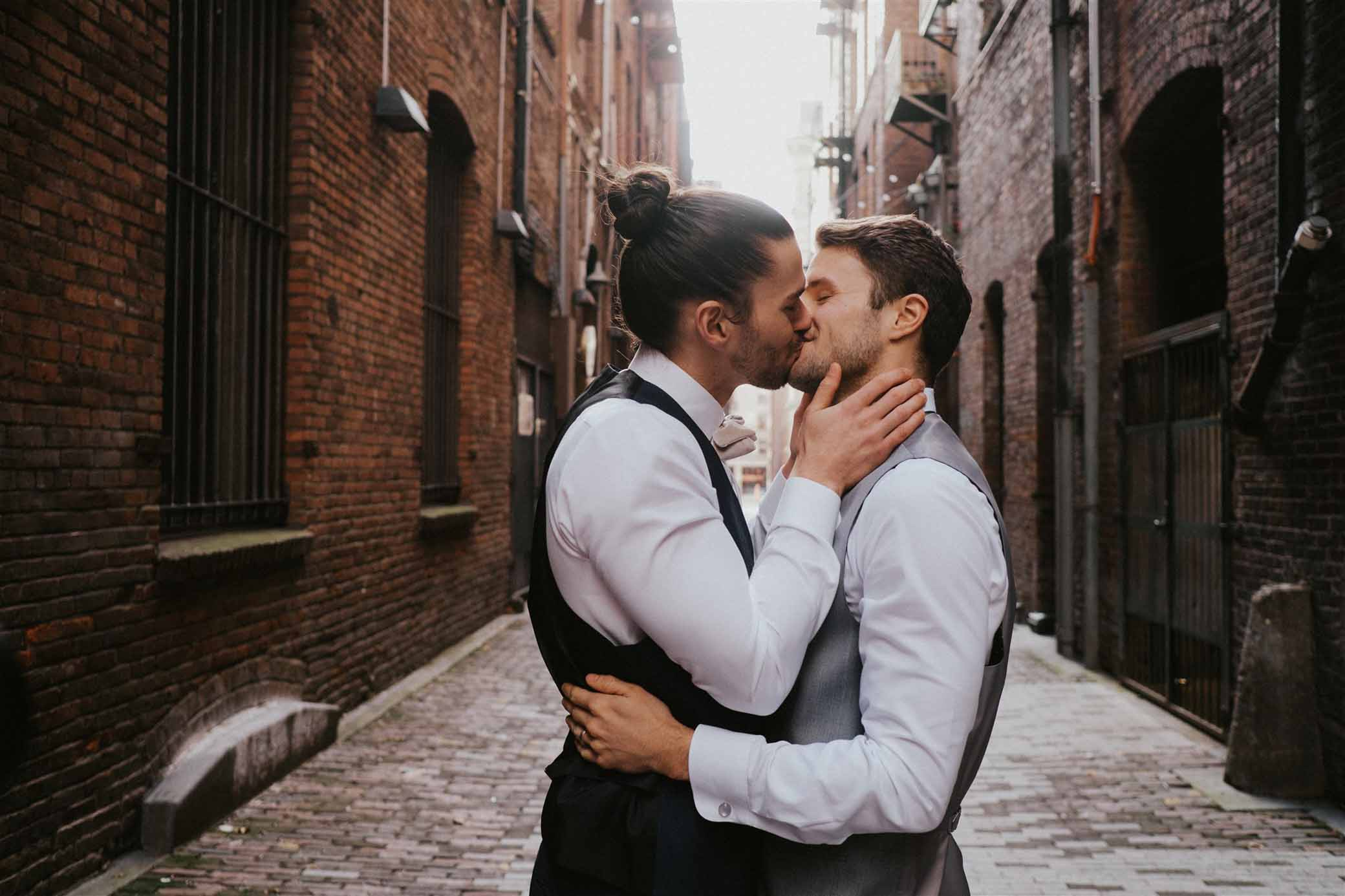 Sarah Anne Photography Seattle Washington USA America gay queer lgbtqia two grooms spring wedding marriage Dancing With Them magazine
