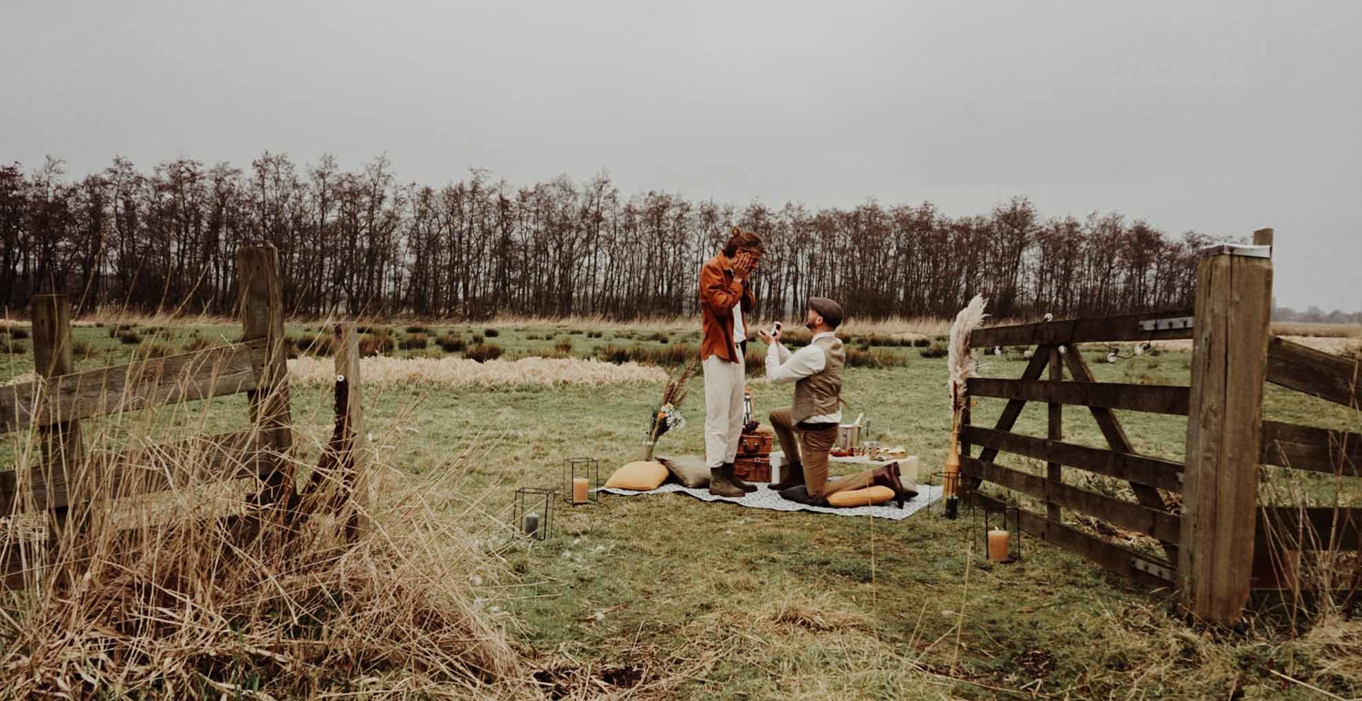 Romantic Picnic Proposal The Travelling Wedding Planner Amsterdam Europe LGBTQ+ gay queer two grooms engagement proposal Dancing With Them