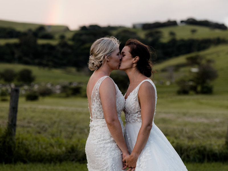 KLD Photography Lesbian two brides mrs & mrs same-sex gay wedding Australia New South Wales Dancing With Them magazine