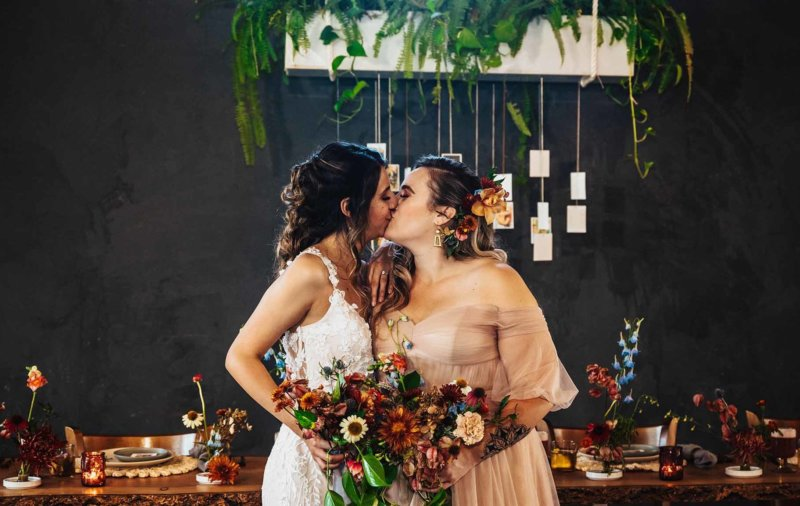 SoCal Standard Kim and Crew San Diego USA LGBTQ+ Queer tran gay couple wedding elopement Dancing With Them magazine